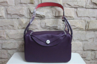 2014 Hermes togo leather lindy bag Lindy30CM purple&pink