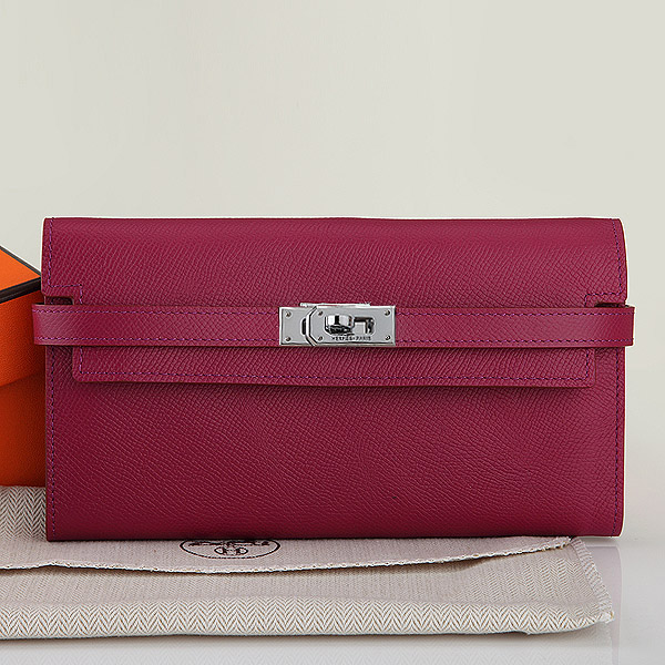 2014 Hermes new original leather palm print A708 jujube red