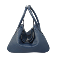 2014 Hermes togo leather lindy bag Lindy30CM dark blue