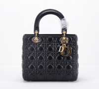 2014 Dior handbag gold chain 8043 black