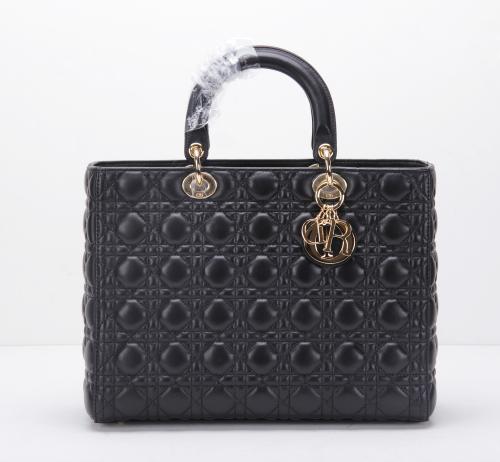 2014 Dior handbag gold chain 8045 black