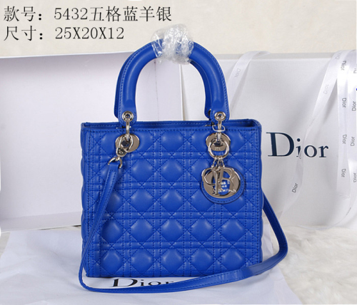 2014 Dior sheep skin silver chain 5432 blue