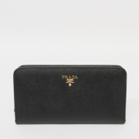 Prada calf Leather Wallet 1M1265 black