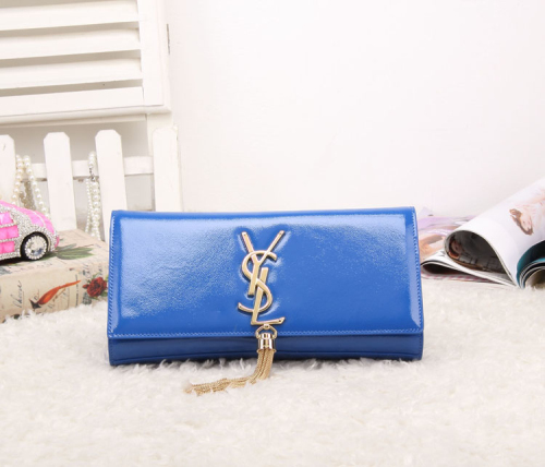 2014 YSL patent leather 8908 blue