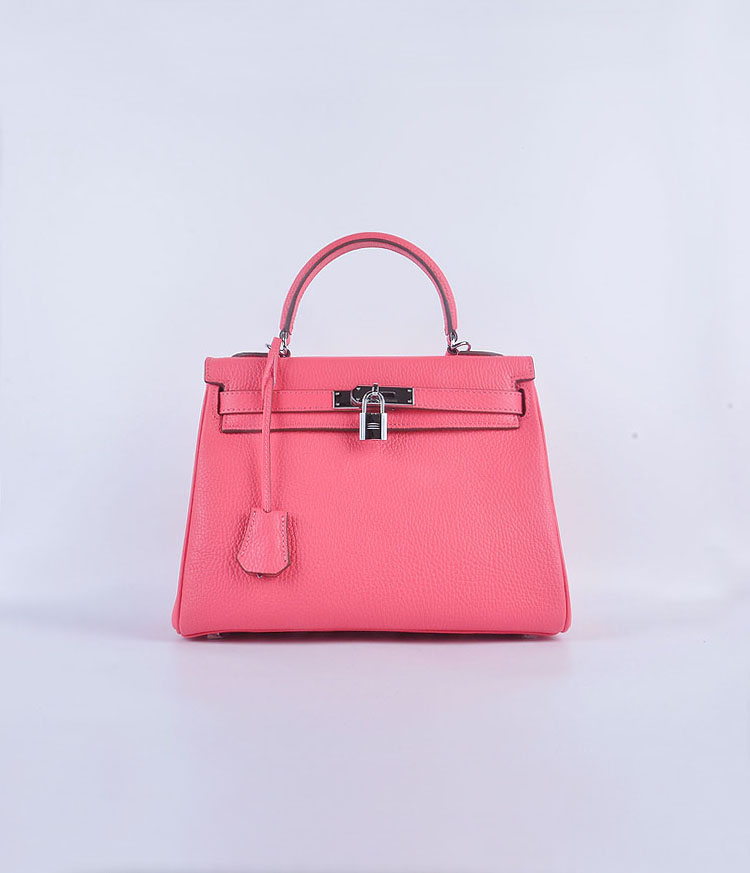Hermes Kelly 28cm togo Leather 6608 light pink Silver Buckle