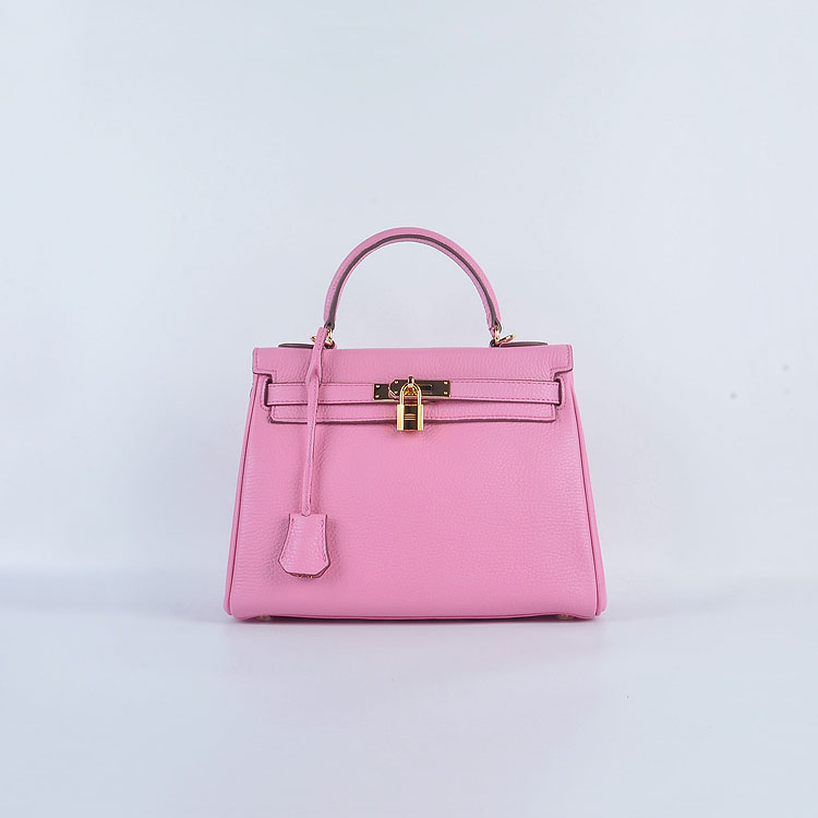 Hermes Kelly 28cm togo Leather 6608 Pink Gold Buckle
