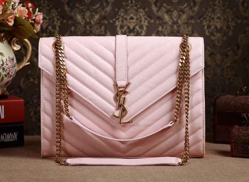 2014 YSL Original leather 5480 pink