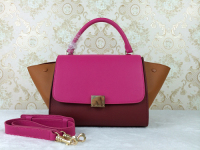 2014 celine 006 jujube red&peach red&light yellow
