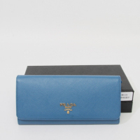 Prada calf Leather Wallet 1M1335 blue
