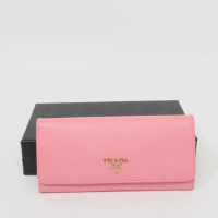 Prada Leather Wallet 1M1335 pink