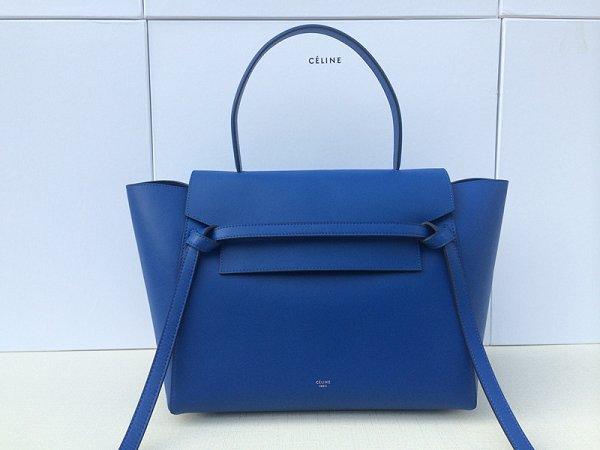 2015 celine belt tote bag in smooth calfskin royal blue 3345