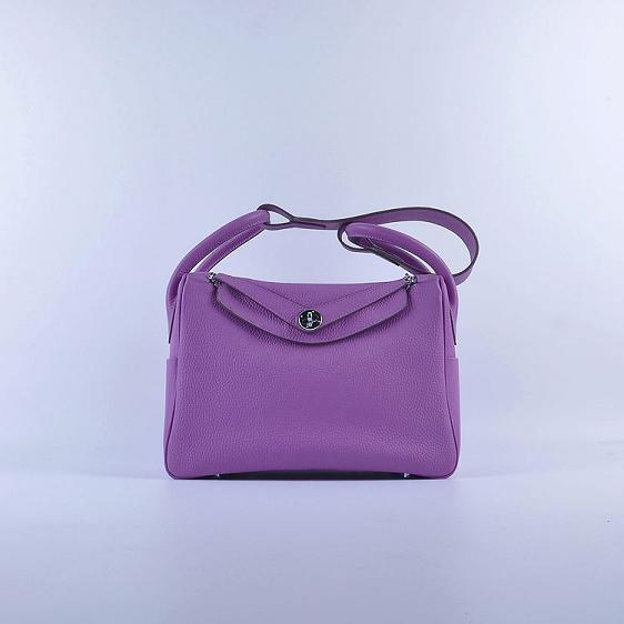 Hermes Lindy 30CM Leather Shoulder Bag 6207 purple