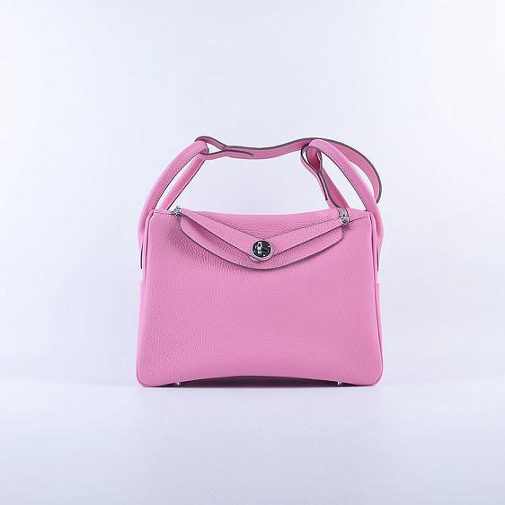 Hermes Lindy 30CM Leather Shoulder Bag 6207 pink