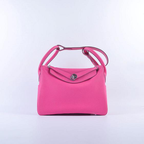 Hermes Lindy 30CM Leather Shoulder Bag 6207 rose