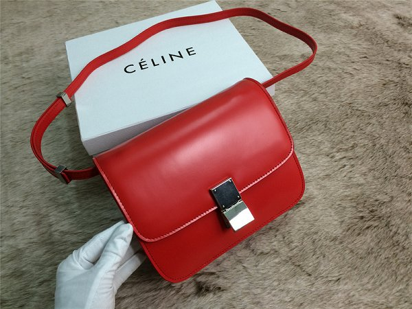 2015 Celine Classic retro original leather 11042 red