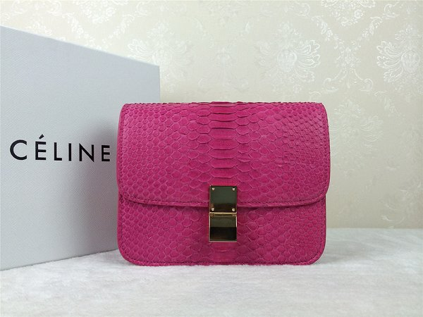 2015 Celine Classic retro original true snakeskin 11042-1 rose
