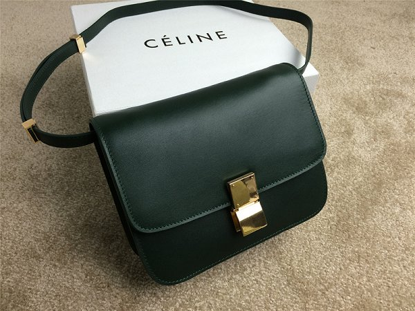2015 Celine Classic retro original leather 11042 dark green