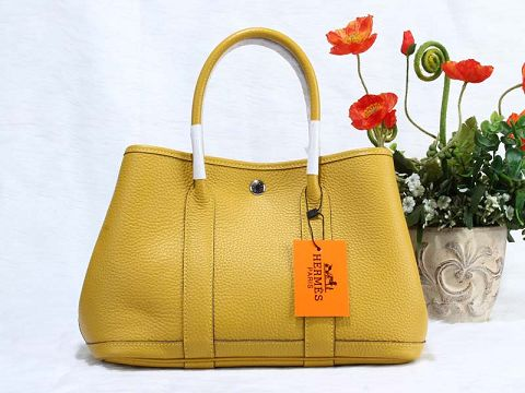 Hermes Garden Party Bag togo Leather H30 yellow