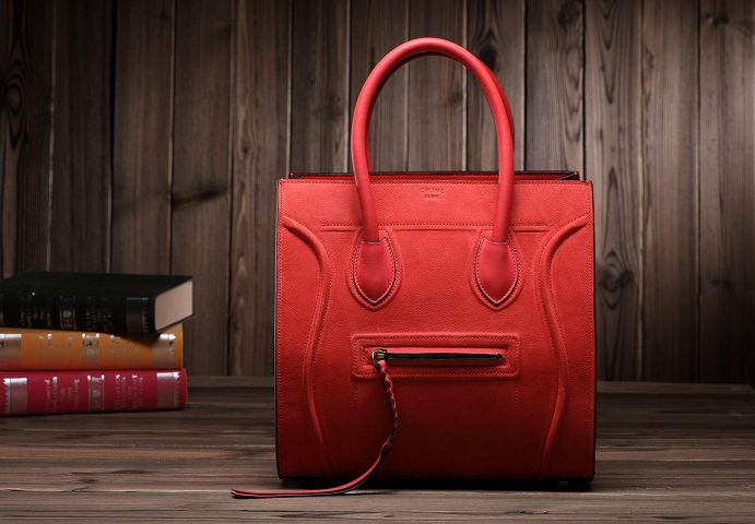 2015 Celine new model caviar with nubuck leather 3341 red