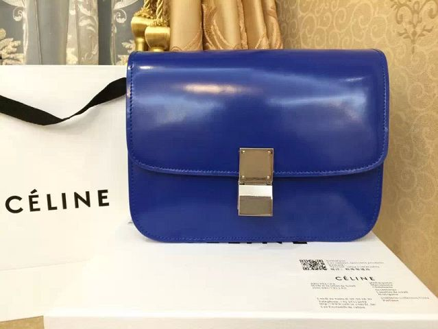 Celine winter best-selling model original leather mirror 11042 royal blue