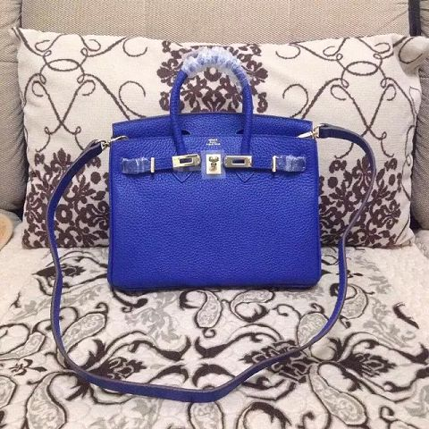 Hermes Birkin H25 litchi grain brilliant blue