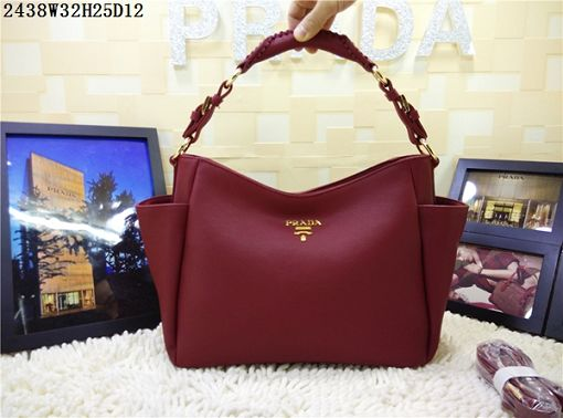 2015 Prada new model 2438 purplish red