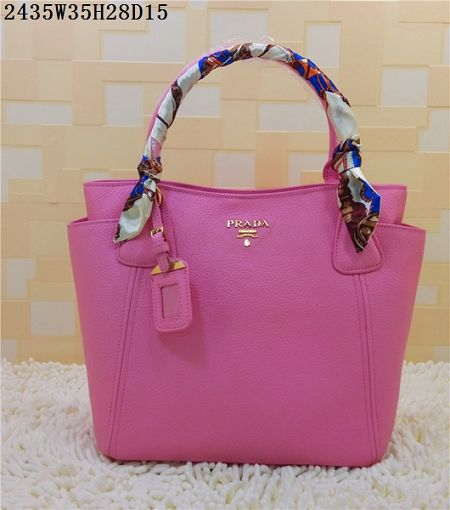 2015 Prada new models shopping bag 2435 pink