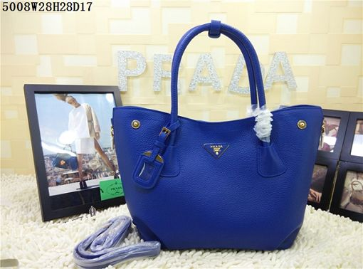 2015 Prada new model shopping bag 5008 blue
