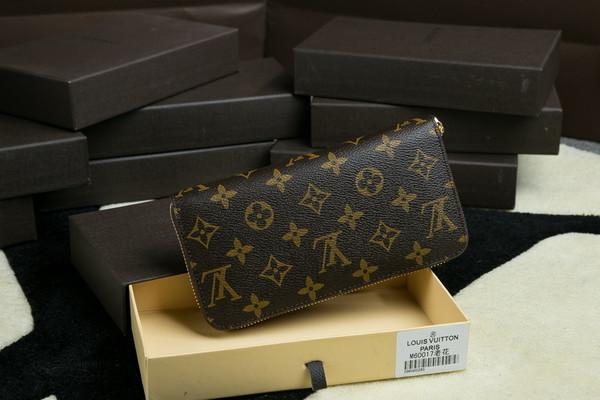 Louis Vuitton Monogram Canvas Clutch Handbag 60017 Brown