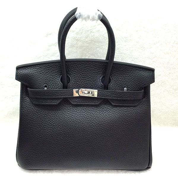 Hermes Birkin 25CM Tote Bag Original Leather H25 Black