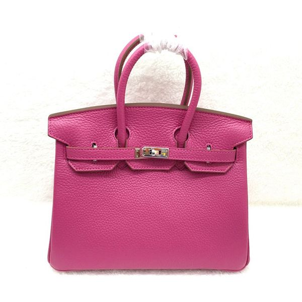 Hermes Birkin 25CM Tote Bag Original Leather H25 Rose Red