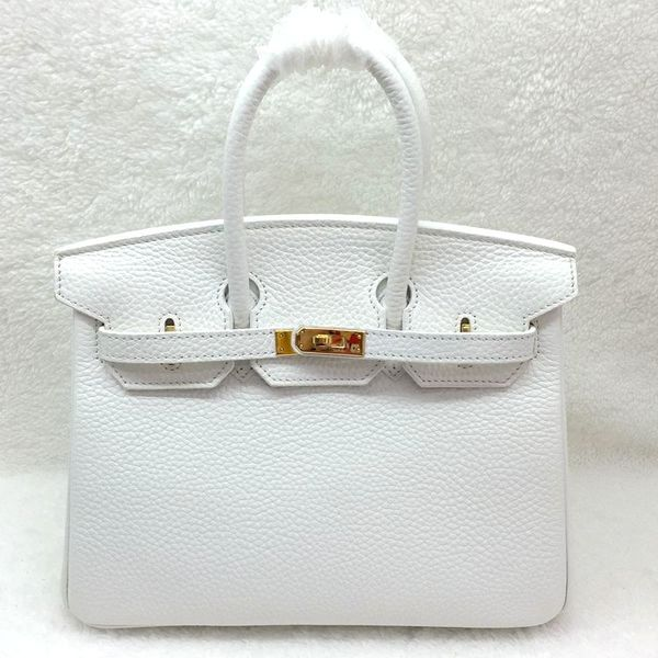 Hermes Birkin 25CM Tote Bag Original Leather H25 White