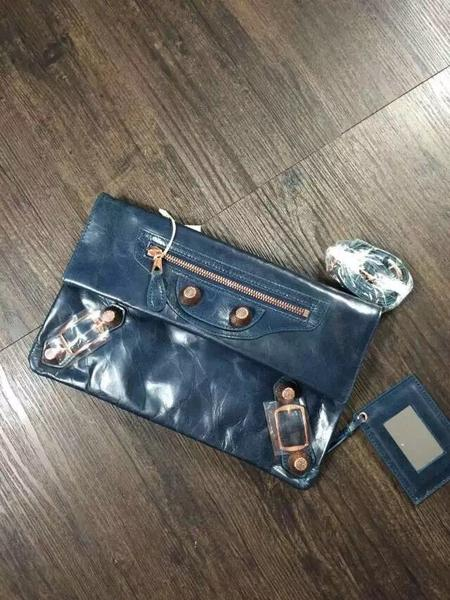 2015 Balenciaga clutch bag 4409 dark blue