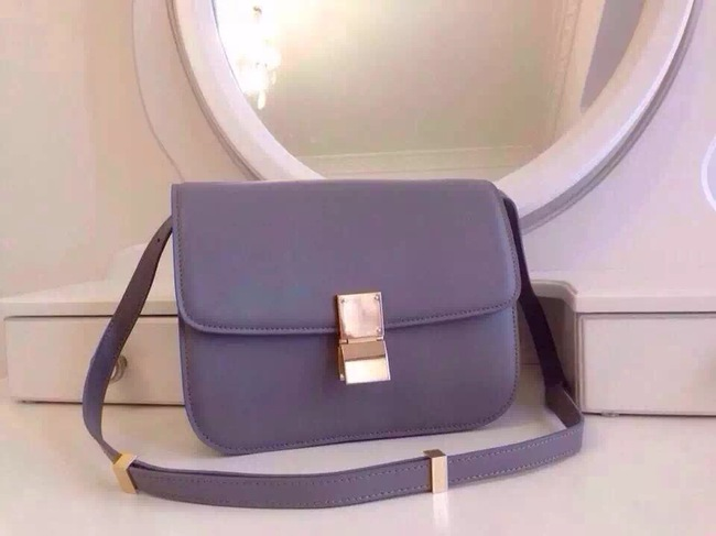 Celine Classic Box Flap Bag Calfskin Leather 2263 Light Purple