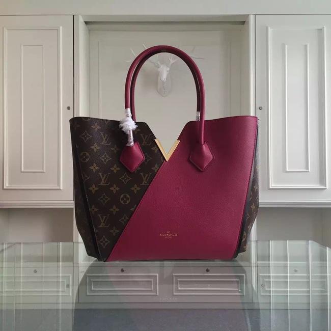 Louis Vuitton Monogram Canvas KIMONO Tote Bag 40460 Purple
