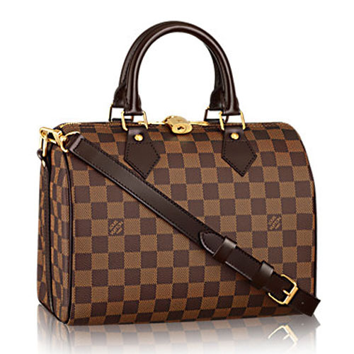 ef7f0f84e75a Louis Vuitton Damier Ebene Speedy 25 with Shoulder Strap N41181