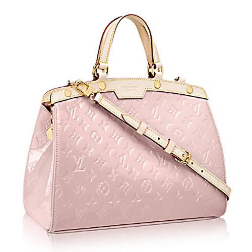 Louis Vuitton Monogram Vernis Brea MM M90927 Rose Ballerine