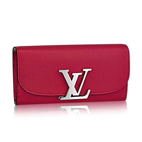 Louis Vuitton Vivienne LV Long Wallet M58406 Framboise