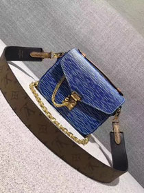 2017 louis vuitton original leather fashion show metis mini M54991 blue