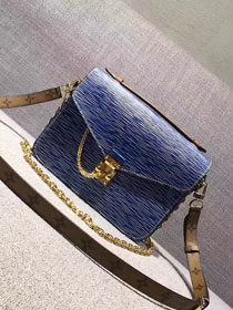 2017 louis vuitton original leather fashion show metis mm m40780 blue