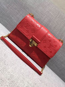 2017 louis vuitton original leather saint sulpice pm M43393 red