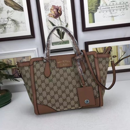 Gucci Canvas Tote Bag 368925 Brown