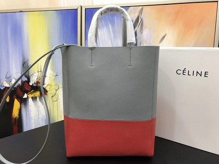 Celine CABAS Tote Bag 3365 Gray with red