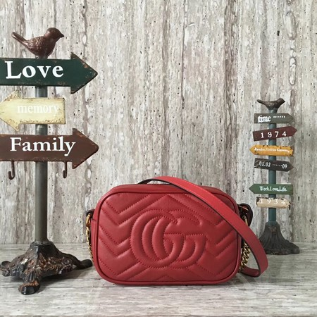 Gucci GG NOW Mini Shoulder Bag 448065 red