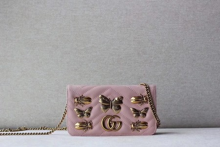 Gucci GG cicada Mini Shoulder Bag 488426 pink