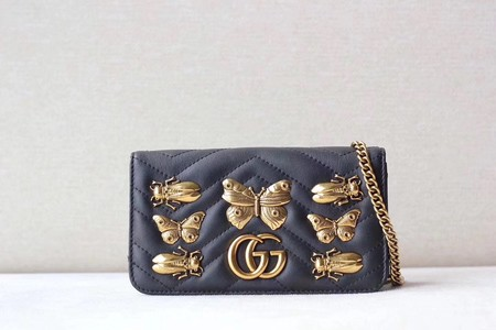 Gucci GG cicada Mini Shoulder Bag 488426 black