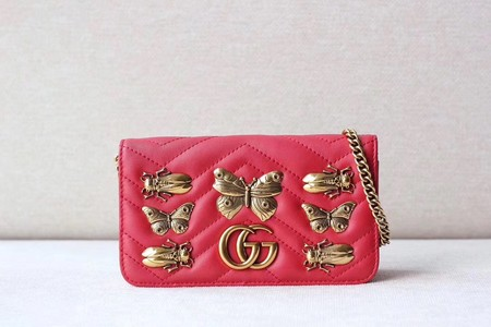 Gucci GG cicada Mini Shoulder Bag 488426 red