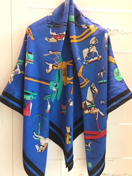 2017 top quality Hermes scarf 2842 blue