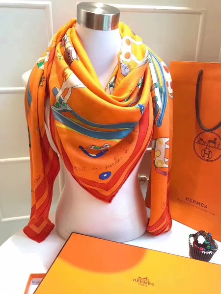 2017 top quality Hermes scarf 2843 orange