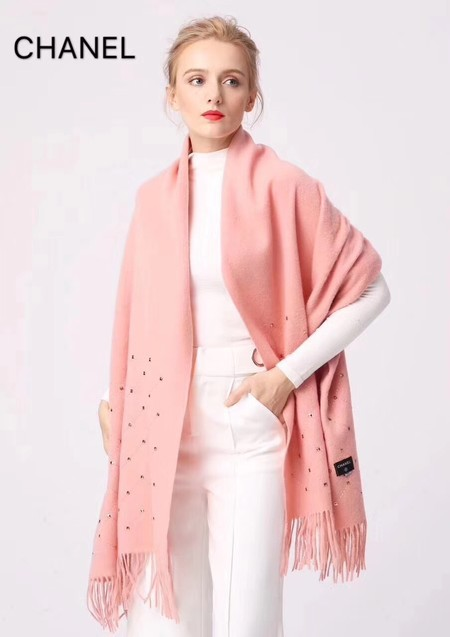 2017 top quality Chanel scarf 2930 pink